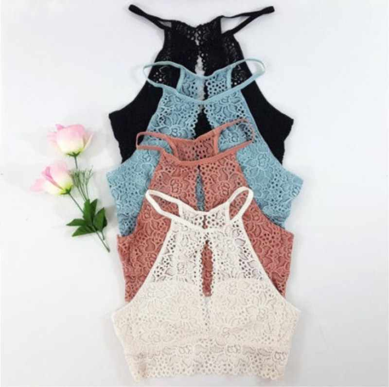 2019 Newest Style Fashion Women Camis Hot Lace Crop Tops Summer Sexy Vest Lady Fashion Bralette Crop Top
