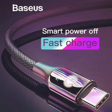 LED USB Type C Cable For Huawei Mate 20 Pro 3A Quick Charge 3.0 For Samsung Note 9 S9 Smart Power Off Type-C/USB-C Phone Devices