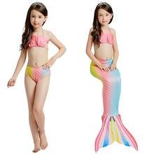 Купальный костюм русалки для девочек комплект бикини с хвостом