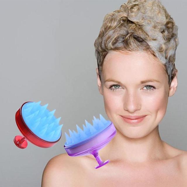 1pc Silicone Head Shampoo Scalp Massage Brush Hair Washing Scalp Cleanse Comb Deep Care Massage Scalp 16 styles 1