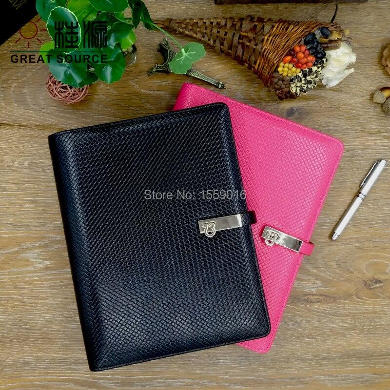 A5 Wide Use Planner Popular Office Products Binder Folder For A5 Agenda Clear Pen Bag Colorful Sticker Soft Ruler Gift Set