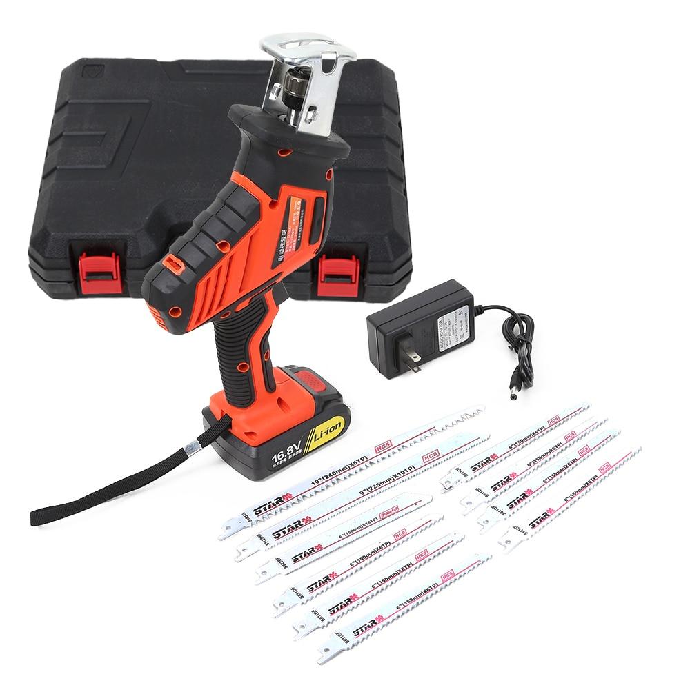 16.8 V Lithium-Ion batterie scie alternative travail du bois métal coupe sabre vitesse réglable outils électriques multi-fonction scie à main