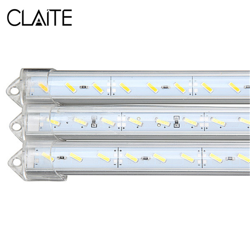 CLAITE LED Bar Light DC 12V 50cm 9W 1800lm SMD 7020 Waterproof IP44 36 LED Rigid Strip Cabinet Light For Kitchen Under Cabinet
