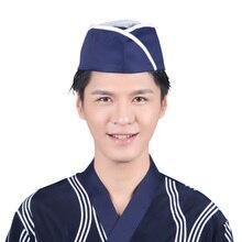 Nuovo Cappello da Cuoco Unisex Cameriere Cappello Sushi Chef Ristorante  Giapponese Uniforme Uomini Della Protezione Delle b15a8e8d38af