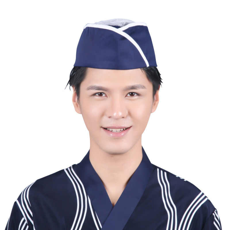 20f5c09508fc7 New Chef Hat Unisex Waiter Hat Sushi Chef Japanese Restaurant Uniform Cooking  Cap Men Women Kitchen