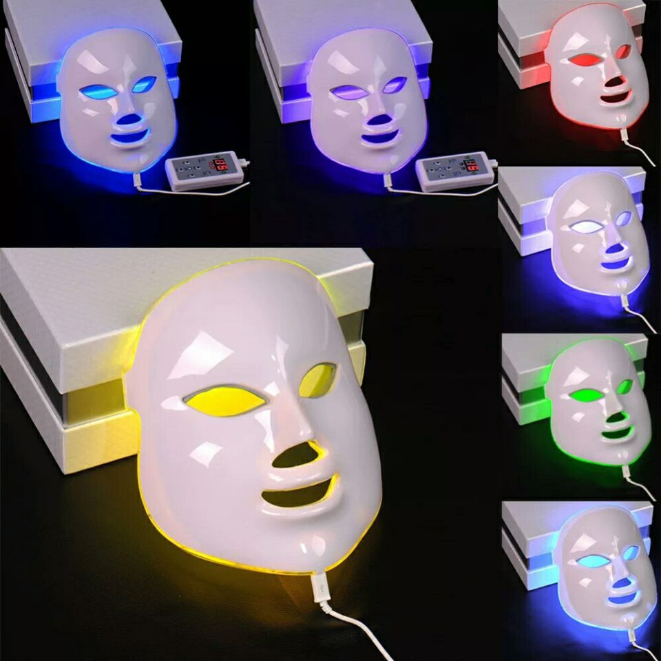 7 Colors Blue Red Face LED Light Mask Facial Skin Care Tool Home SPA Beauty Anti Wrinkle Acne Removal Skin Rejuvenation Device