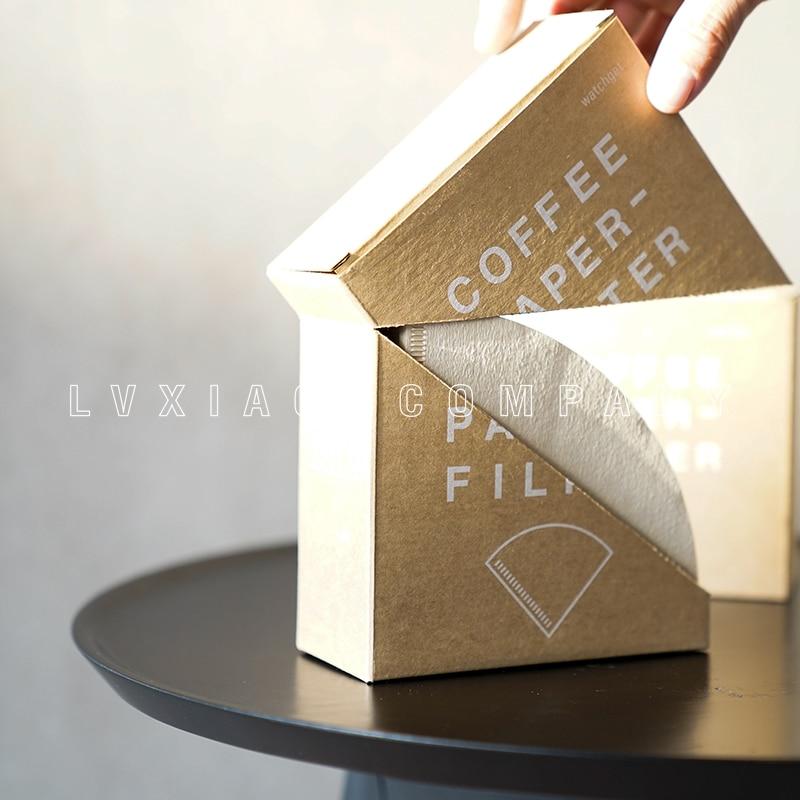 Сторожевой дизайн фильтровальная бумага с держателем 100 Штук Деревянная/отбеленная бумага ручной V60 капельная бумага для кофе фильтр|Фильтры для кофе|   | АлиЭкспресс - Для кофе