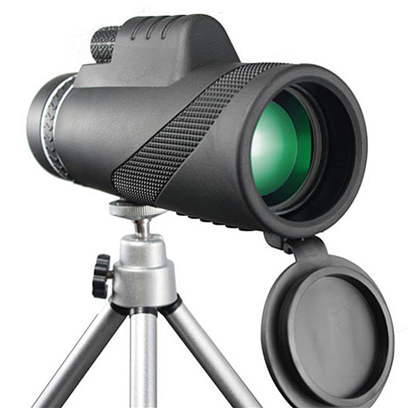 40X60 Monocular Powerful Binoculars HD Night Vision Prism Handheld Telescope Outdoor Professional Travel Hunting