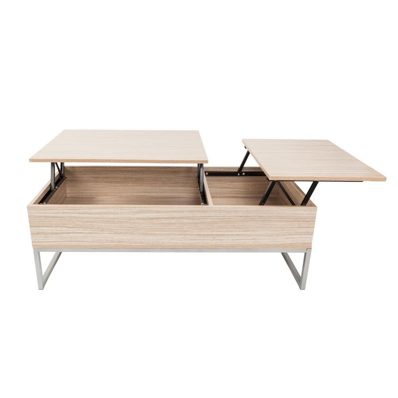 Lift Top Coffee Table Modern Furniture Hidden Compartment And Lift Tabletop Imitation Wood Grain Color Drop Shipping