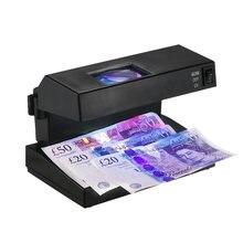 Detector de billetes en efectivo, comprobador de billetes de banco con lupa, probador de dinero forjado para enchufe europeo de USD, EURO POUND