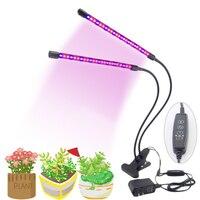Dual LED Wachsen Lichter 5V USB Phyto wachstum Lampe Mit timing Controller Einstellbare Rot Blau licht FÜR Blume samen anlage Indooor-in LED-Wachstumslichter aus Licht & Beleuchtung bei