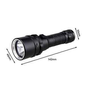 Image 5 - Professionnel UV lumière sous marine Rechargeable 18650 batterie LED XPE plongée lampe de poche 100M torche plongée sous marine 10W 365 395nm lanterne