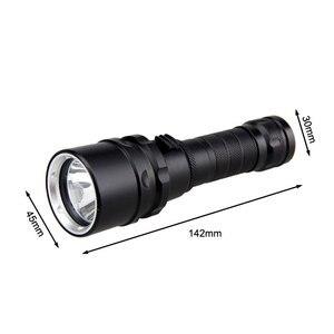 Image 5 - מקצועי UV אור מתחת למים נטענת 18650 סוללה LED XPE פנס צלילה 100M לפיד צלילה 10W 365 395nm Lanterna