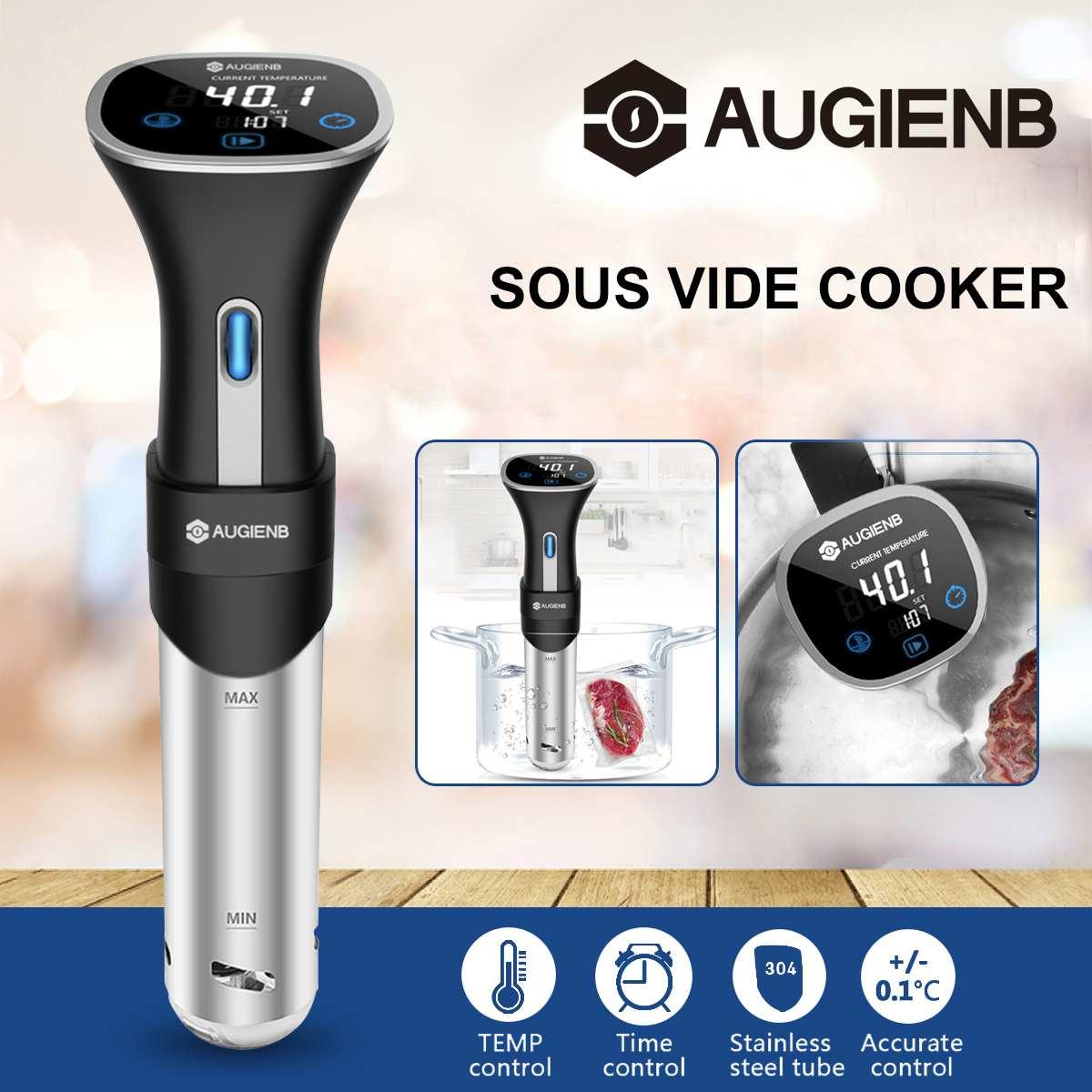 AUGIENB 800W cuiseur à Vide lent Sous Vide 15L circulateur à Immersion Machine LCD minuterie numérique en acier inoxydable