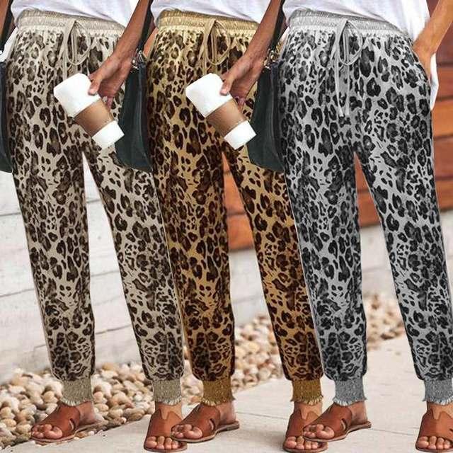 5e72d0d2d2c4 Celmia Лето 2019 г. брюки для девочек женский леопардовый принт дамские  шаровары ...