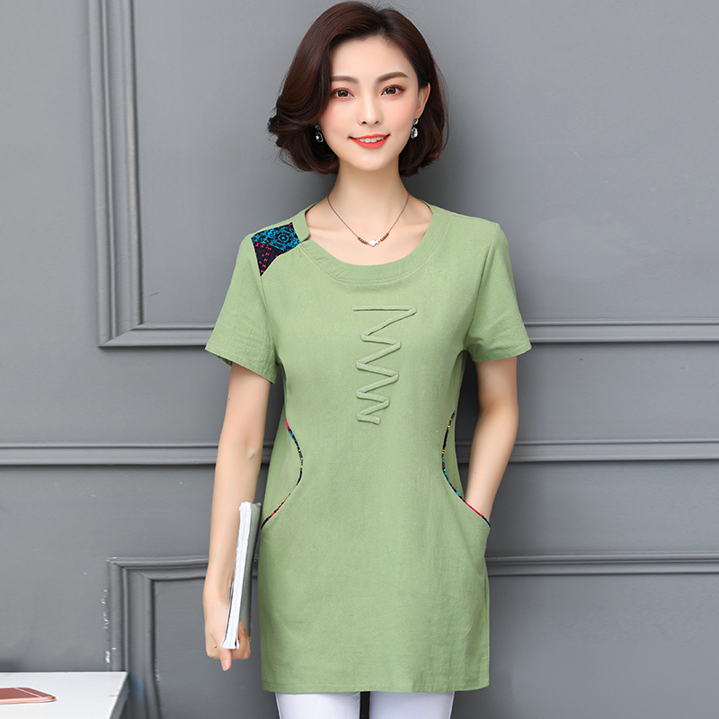 Nkandby Plus size Ladies Tops Summer Korean Women Clothing Slim Cotton Short sleeve 5XL 4XL Big size T shirt Regular Tees Female 4