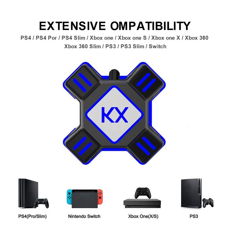 KX Keyboard Mouse Converter For PS3 PS4 Xbox One Switch APEX Support All Major Mainstream Handles Keyboard MouseKX Keyboard Mouse Converter For PS3 PS4 Xbox One Switch APEX Support All Major Mainstream Handles Keyboard Mouse