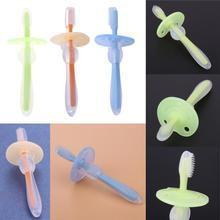 1 шт., детская мягкая силиконовая учебная зубная щетка для новорожденных, детей, уход за полостью рта, зубная щетка, инструмент для детей, Прорезыватель зубов