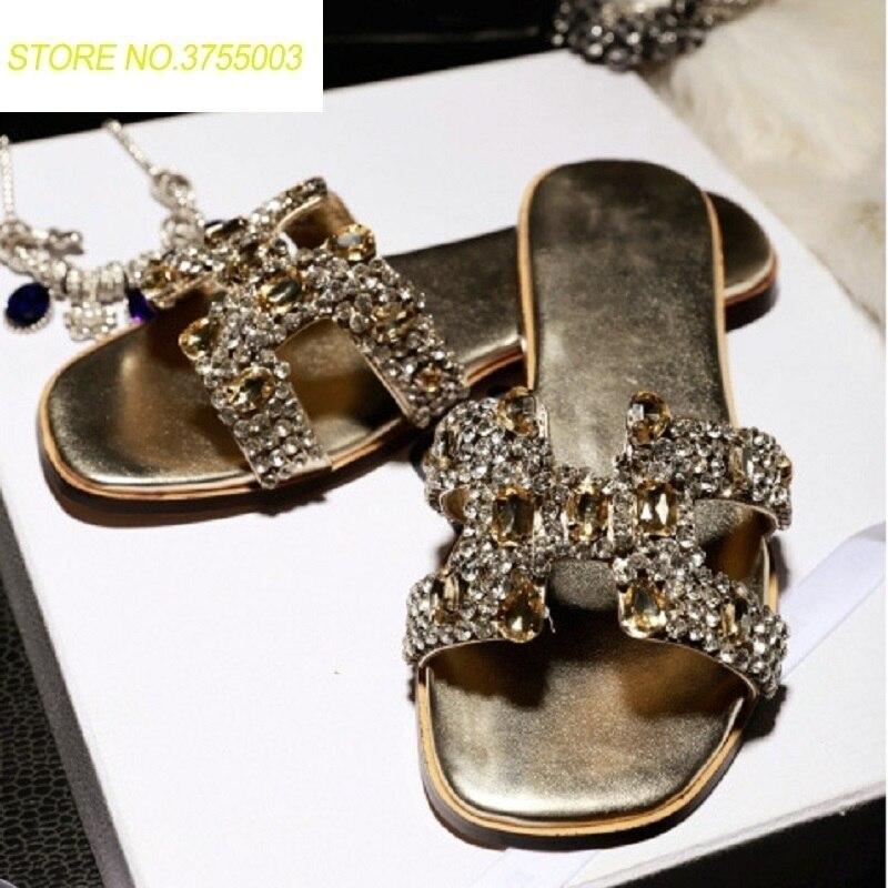 Cristal Delux Flops Grande Flip Dames Chaussures Pantoufles purple Strass Plat Taille Gold Partie Mules Femmes Schoenen Sandales sliver qHHwCdr