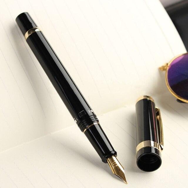 Yeni Model Kanat Sung 698 Piston Siyah Altın dolma kalem 0.5mm Yumuşak Uç HEDIYE