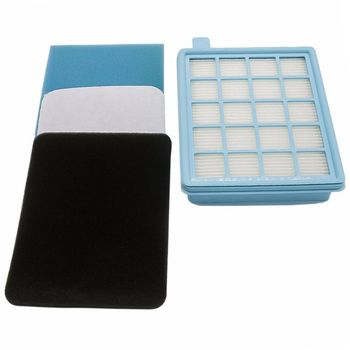 EAS-Filter set for Philips PowerPro Active and Compact vacuum cleaner. (Comparable with FC8058 / 01) фильтр для пылесосов philips fc8058 01