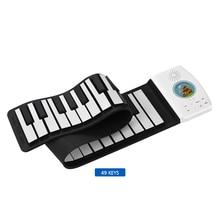 Многофункциональное 49 клавиш цифровое пианино рулонное пианино клавиатура Встроенная батарея клавиатура для электропианино для детей красочная клавиатура
