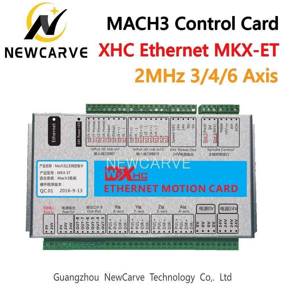 XHC Ethernet Mach3 carte de sortie 3 4 6 axes USB carte de contrôle de mouvement reprendre 2 MHz Support pour CNC tour graveur NEWCARVE
