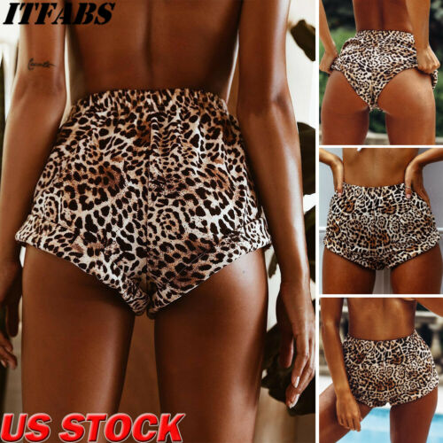 Summer Women Casual Leopard Printed Beach Shorts Sportswear Shorts Cotton Hot