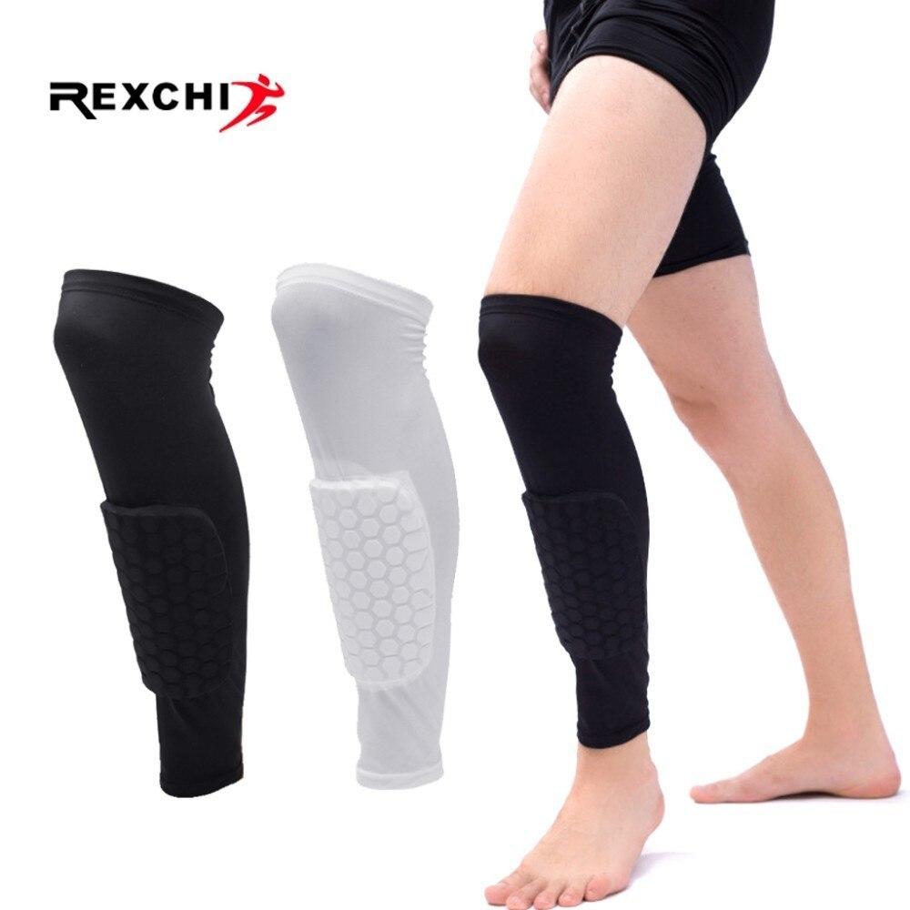 REXCHI 1PC Honeycomb Football Shields Soccer Shin Guard Football Legging Shin Pads Leg Sleeves Adult Support Protective Gear
