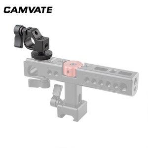 Image 2 - CAMVATE Standard Einzel Rod Clamp 15mm Schiene Stecker Adapter Mit Heißer/Kalten Schuh Halterung Für DSLR Camer Fotografie zubehör
