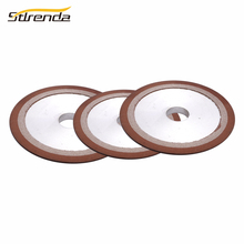 цена на STLRENDA Diamond Grinding Wheel 150/180/240/320/400 Grit Resin Grinding Disc 32mm Hole Saw Blade Dremel Grinder Rotary Tools