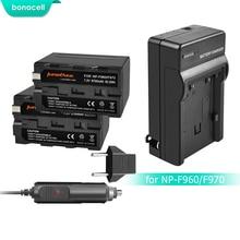 Bonacell 7.2V 8700mAh NP-F960 NP-F970 NP F960 F970 F950 Battery+Charger For Sony PLM-100 CCD-TRV35 MVC-FD91 MC1500C L10