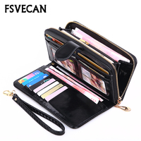 Fashion Brand Long Wallet Leather Women Luxury Female Zip Pocket Card Holder Money Case More Color Wallets Ladies Clutch Purse