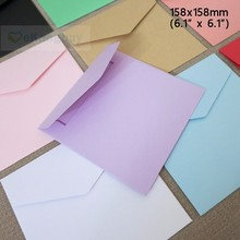 "50pcs 158x158mm(6.1"" x 6.1"") Color Paper Envelope Greeting Card Wedding Invitation Envelope Cover"