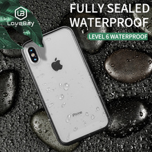 Lovebay Waterproof Swimming Diving Cover Phone Case For iPhone 6 6S 7 8 Plus X XR XS Max Fashion TPU Soft Protective Funda Shell