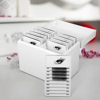 Caixa de armazenamento de cílios 10 camadas organizador de maquiagem cílios postiços cola palete titular enxertia cílios extensão maquiagem ferramenta