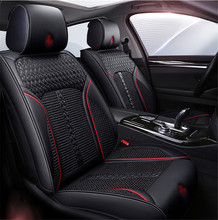 Universal New 6D Car Seat Cover 5 seats Cushion Senior Microfiber Leather+Sponge Layer Sport Styling