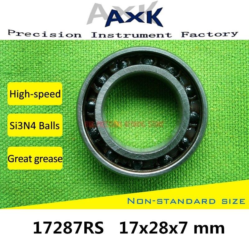 17287 Hybrid Ceramic Bearing 17x28x7 Mm Abec-3 (1 Pc) Bicycle Bottom Brackets & Spares 17287rs Si3n4 Ball Bearings 17287-2rs17287 Hybrid Ceramic Bearing 17x28x7 Mm Abec-3 (1 Pc) Bicycle Bottom Brackets & Spares 17287rs Si3n4 Ball Bearings 17287-2rs