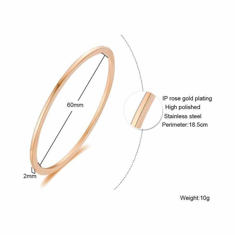 Vnox feminino personalize personalizado gravura manguito pulseiras pulseira para mulheres menina três tons de aço inoxidável melhor amigos presente