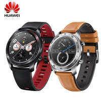 HUAWEI HONOR часы Magic Glory умные часы водостойкие AMOLED цветной экран gps NFC смарт напоминание Lava черный Smartwatch