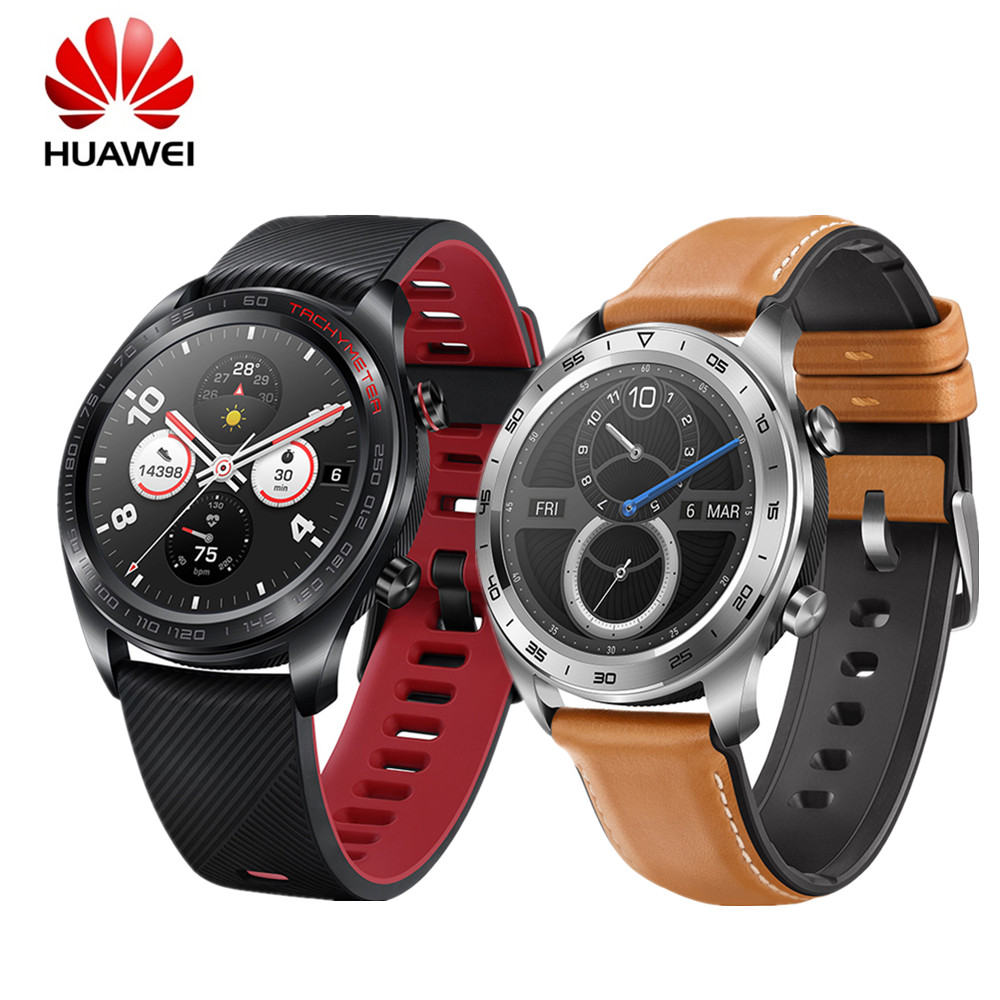 HUAWEI HONOR montre magique gloire montre intelligente étanche AMOLED couleur écran GPS NFC rappel intelligent lave noir Smartwatch