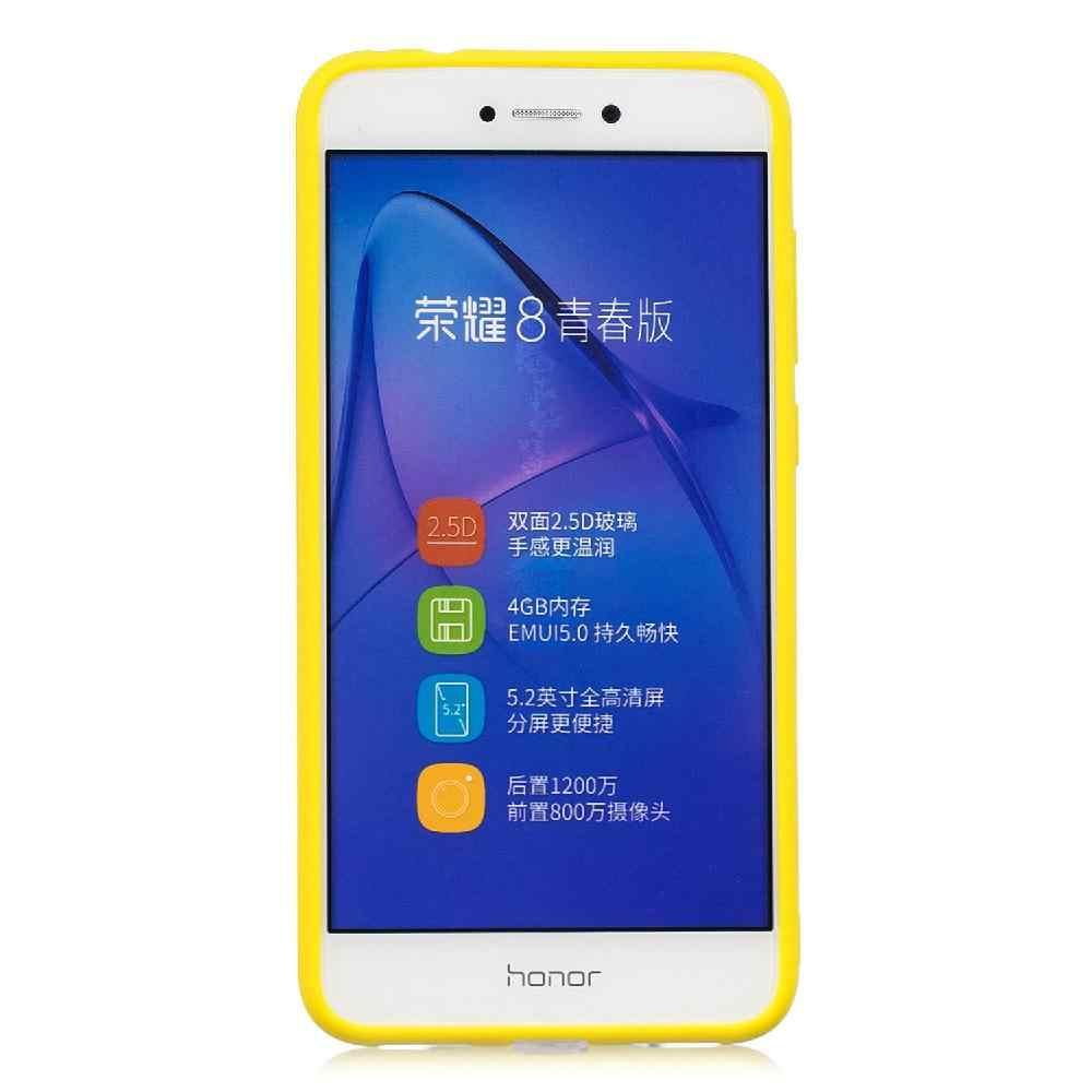 Matte Silicone Mềm TPU Bìa Trường Hợp Đối Với Huawei P8 lite 2017 P20 P20 Lite Matte TPU Anti-scratch Không -trượt Bảo Vệ Bìa r20