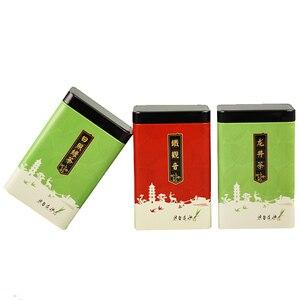 Image 4 - Xin Jia Yi Verpakking Thee Metalen Doos Koran Pakket Gift Box Wijn Fles 18 inch Grote Maat Hot Koop Kleurrijke groene Thee Blikje