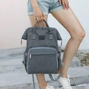 Image 3 - Модная сумка для подгузников для мам, большая сумка для кормления, дорожный рюкзак, дизайнерская сумка для детской коляски, рюкзак для подгузников для ухода за ребенком