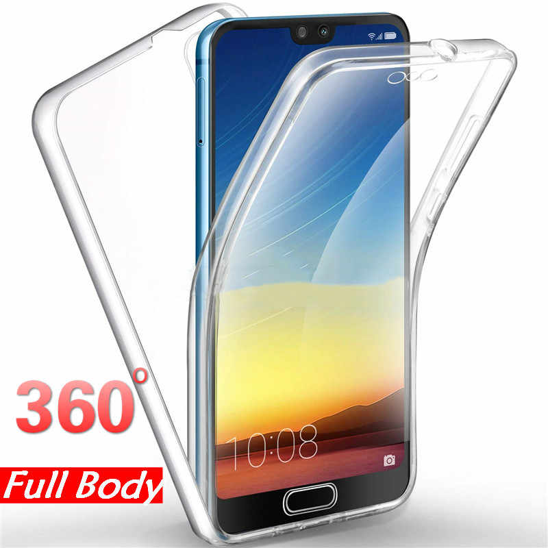 360 Full Body Clear Case for Huawei Y6 Y7 Pro P Smart 2019 P20 P30 Pro Mate 10 20 P9 P8 Lite 2017 mini P10 Front & Back Covers