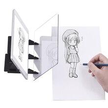 Портативная оптическая трассировочная доска, копировальная панель, ремесла, картина в стиле аниме, искусство, легко Рисование, инструмент для набросков, форма на нулевой основе, игрушка