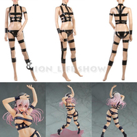 Super Sonico Cosplay Costume Leather Belt Bandage Sexy Hot Limit Suit Ver Outfit