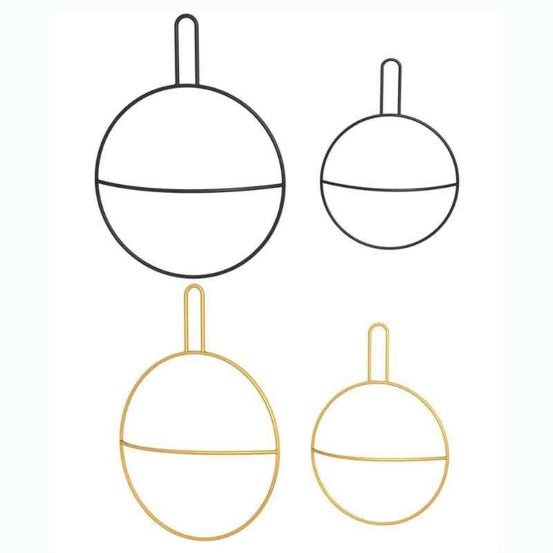 Semplice di Figura Rotonda del Metallo Bagno Asciugamano Appeso Supporto di Stile Moderno Parete Hanger Rack Asciugamano Dell'organizzatore di Immagazzinaggio Complementi Arredo Casa