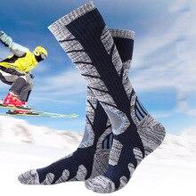 Women Men Sport Socks Cotton Blends Colorful Thicken Outdoor Snow Winter Warm Skiing Mountaineering Wear warm Ski socks 2019