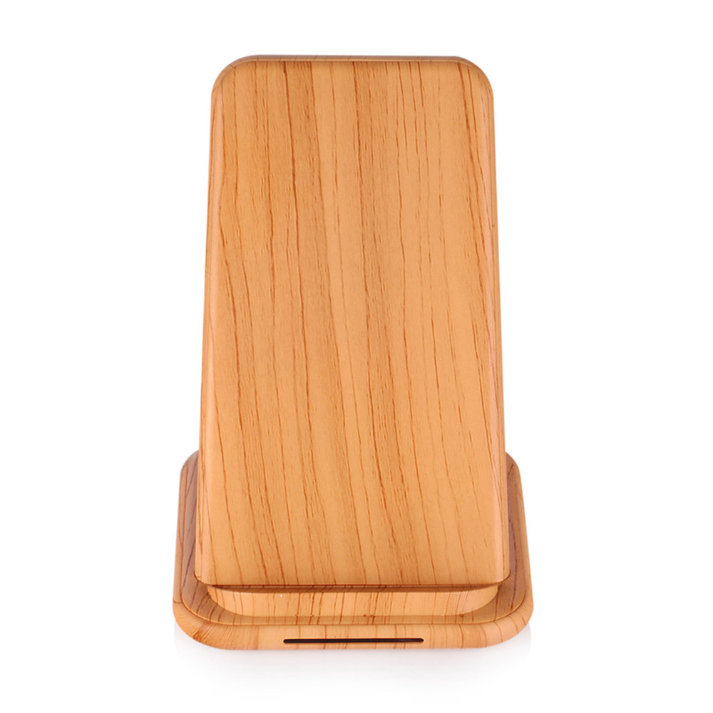 Image 5 - Qi Fast Wireless Charger for Huawei P20 P30 Xiaomi 9 WoodGrain Quick charging Vertical Phone Stand for iPhone X XS MAX XR 8 Plus-in Mobile Phone Chargers from Cellphones & Telecommunications